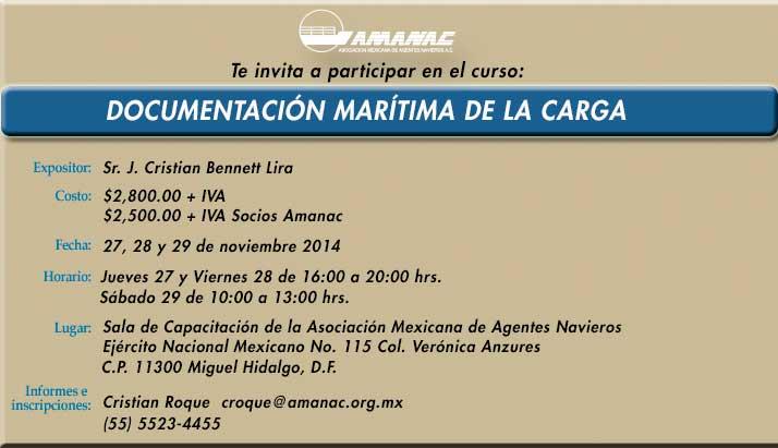 Documentación Marítima de la Carga