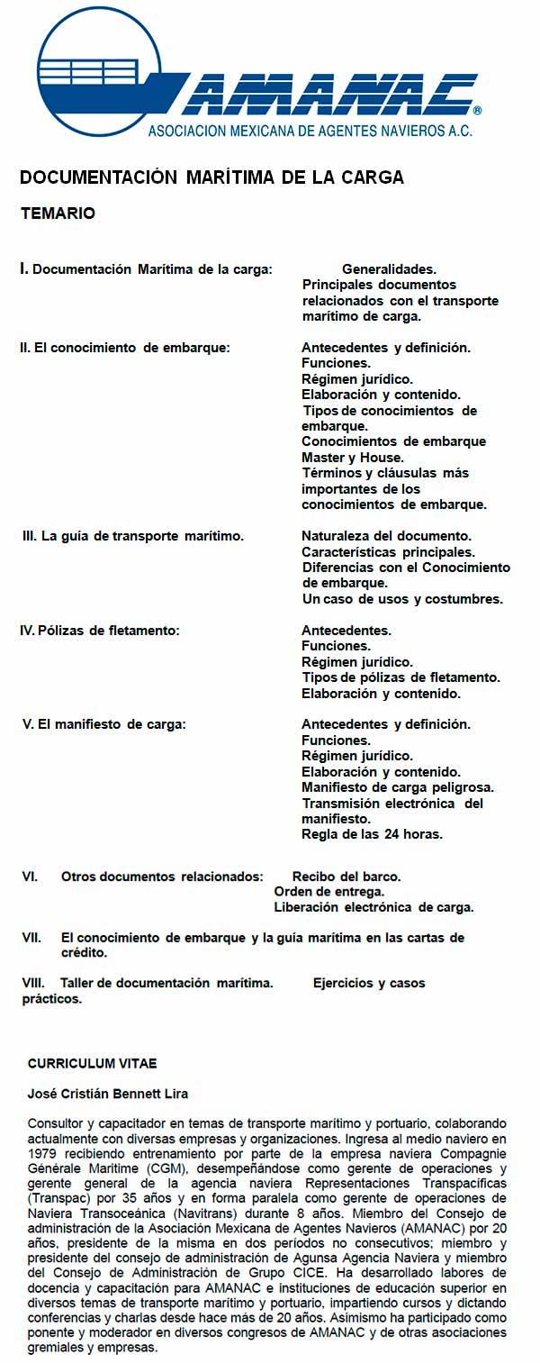 Curso Documentacion  Maritima 2017